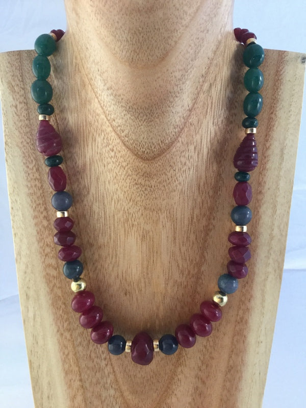 Ani: carved Ruby necklace