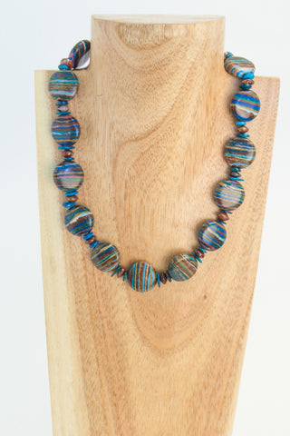 BIG TOP: Multi-Coloured Ceramic Choker