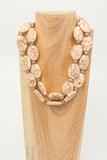 Adelaide - 2 strand pressed stone necklace