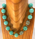 BRIGHT TURQUOISE: Amazonite Necklace