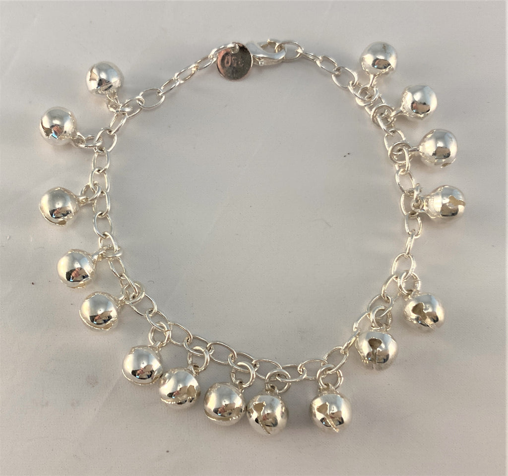 BS103: Sterling Ball Charm Bracelet