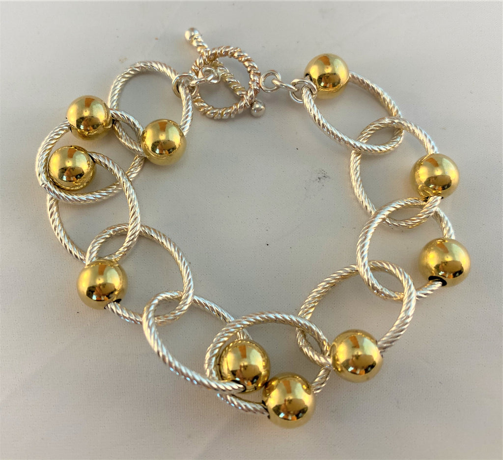 BS53: Sterling Gold Plate Bracelet