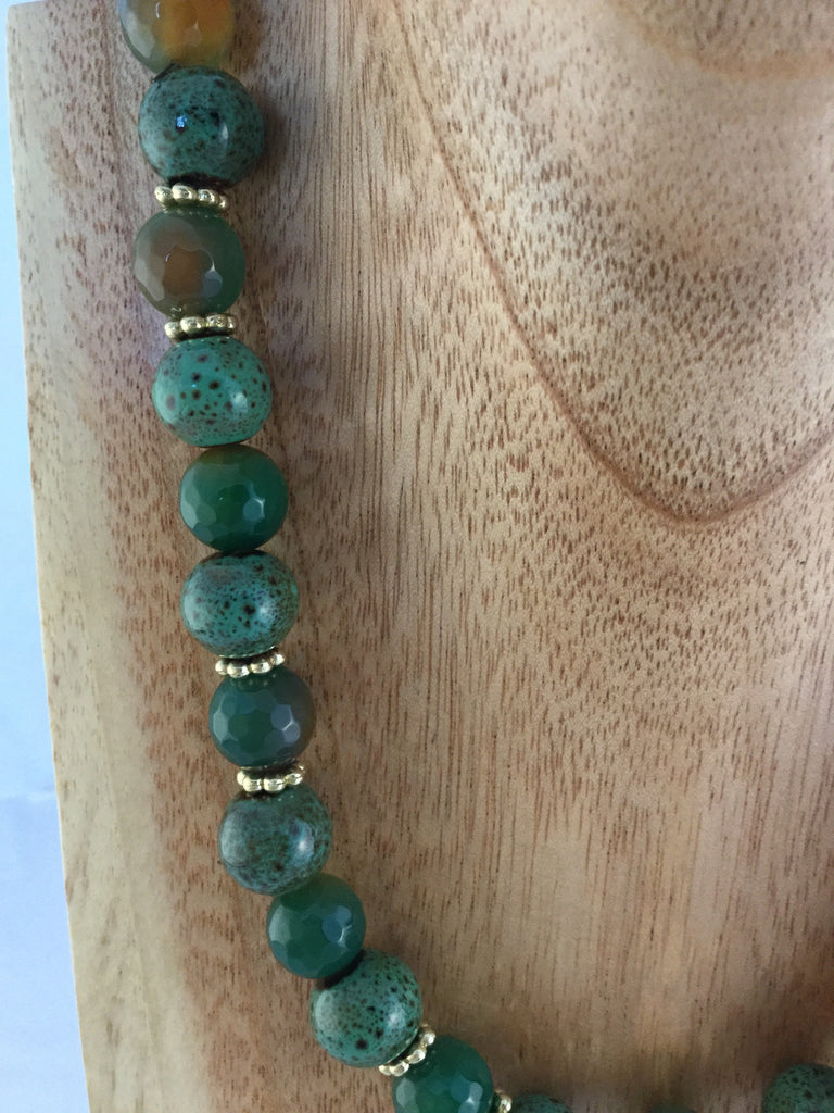 BABS II: Green Ceramic Necklace