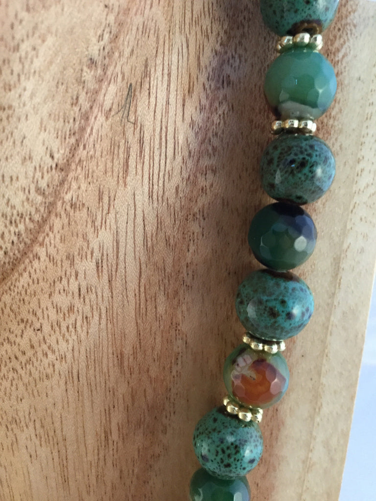 BABS I: Green Ceramic Choker