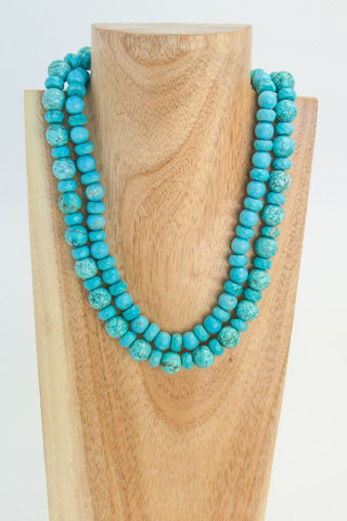 DELPH: Blue Ceramic Necklace