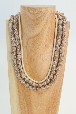 BRYLYNN: 3 strand Goldstone Necklace