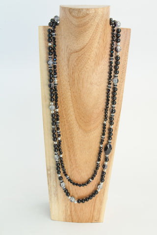 BLACKIE:  Long Onyx Necklace