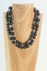 Long Onyx necklace can be doubled up as a choker