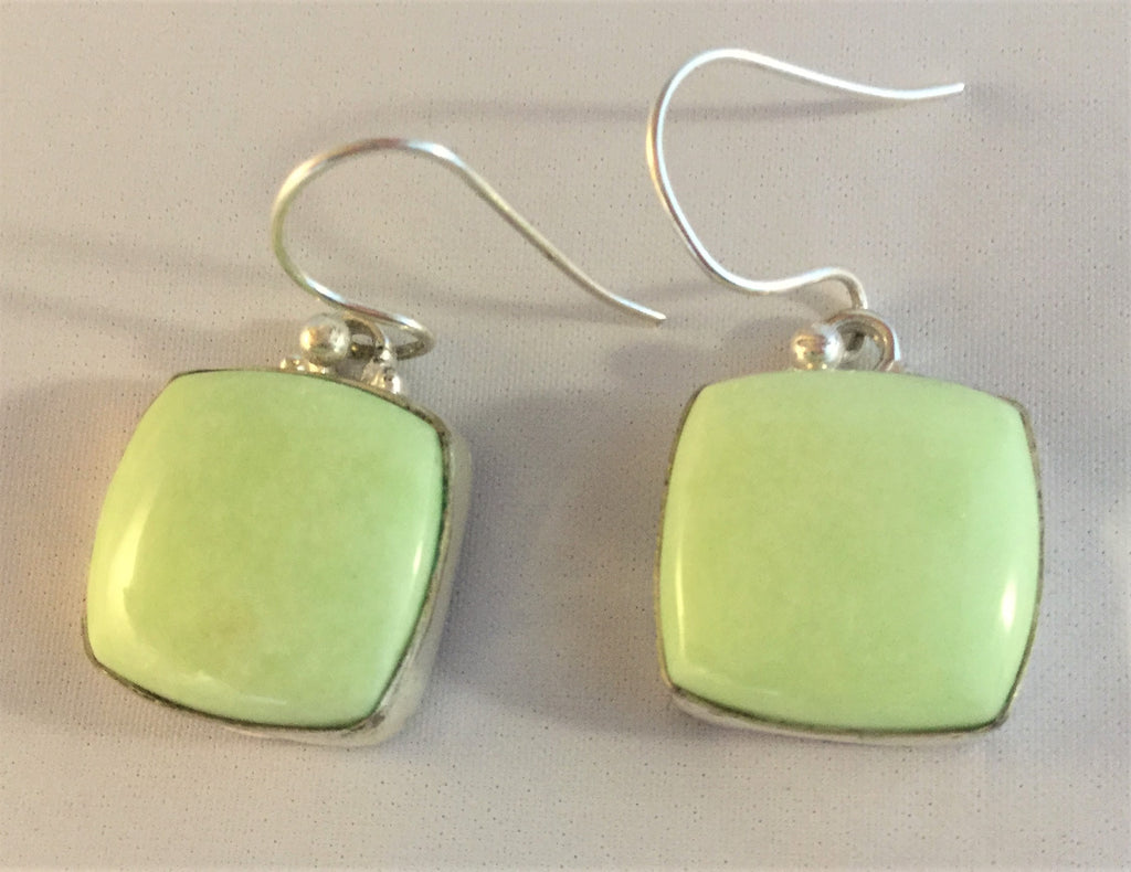 E58: Lemon Chrysophrase Earrings