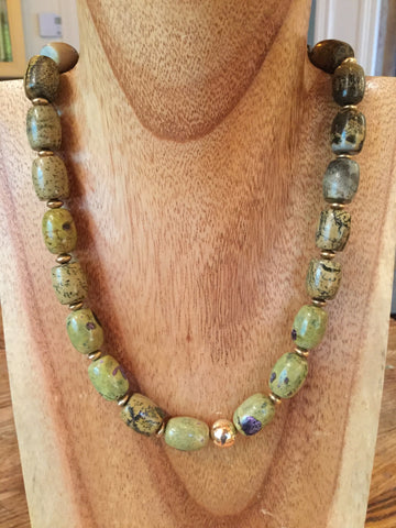 Colleen - Tiger's Eye Nuggets Choker Necklace
