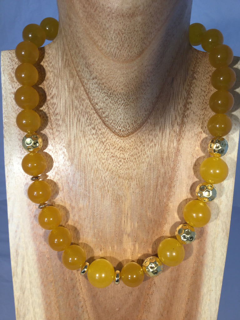 GOLDENROD: Yellow Jade Choker
