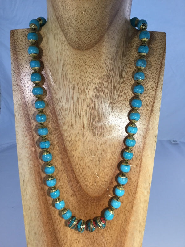 "JAMPA: 22"" Turquoise Necklace"