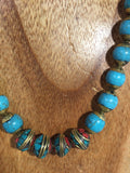 Jampa: Turquoise and Coral rondels