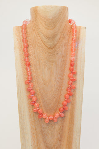 LIMETTE: 3 strand Peridot coloured Quartzite Necklace.