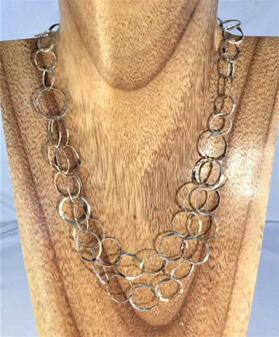 Ellie - Tiger's Eye 2 strand choker with gold.