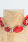 red Turquoise and Howie mixed together in this necklace.