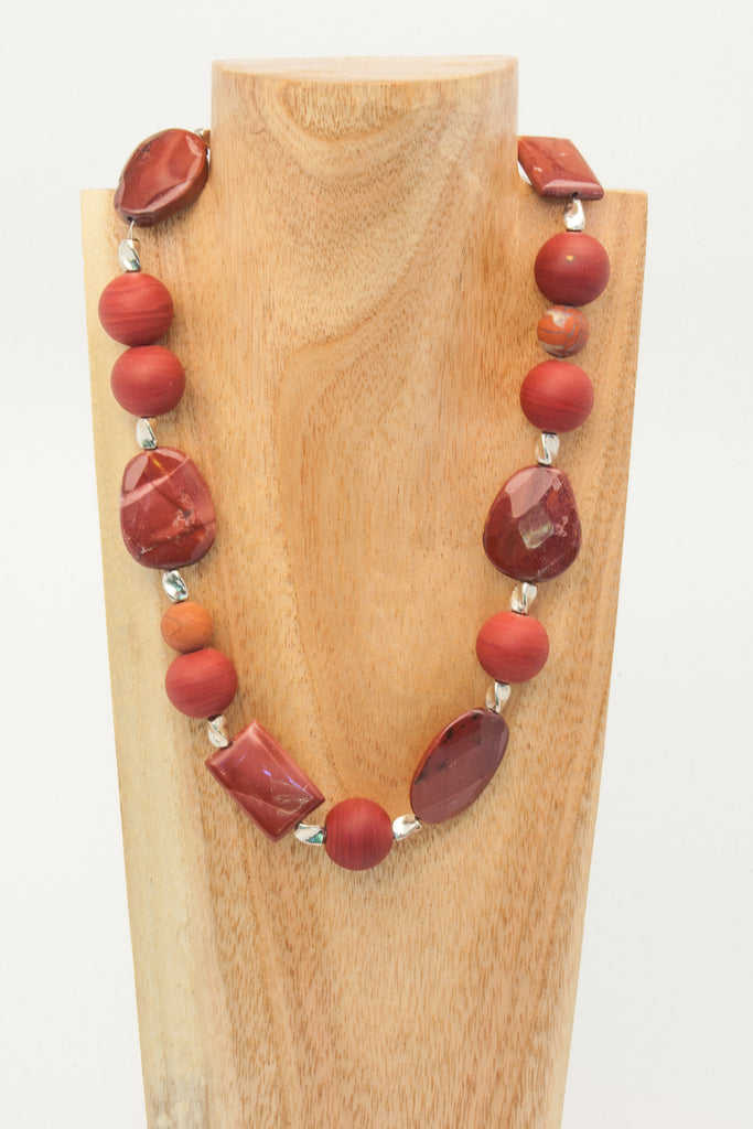 "21 1/2"" necklace in a rare combination of Mookaite and Colondte"