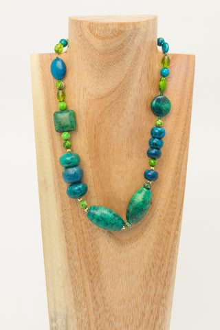 Alo - 2 strand Turquoise and Sterling Necklace - SOLD