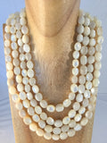 Mother of Pearl: 4 strand Statement necklace