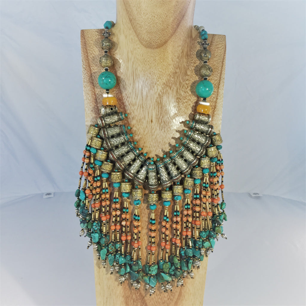 NERFERTITI: Tibetan Ceremonial Necklace