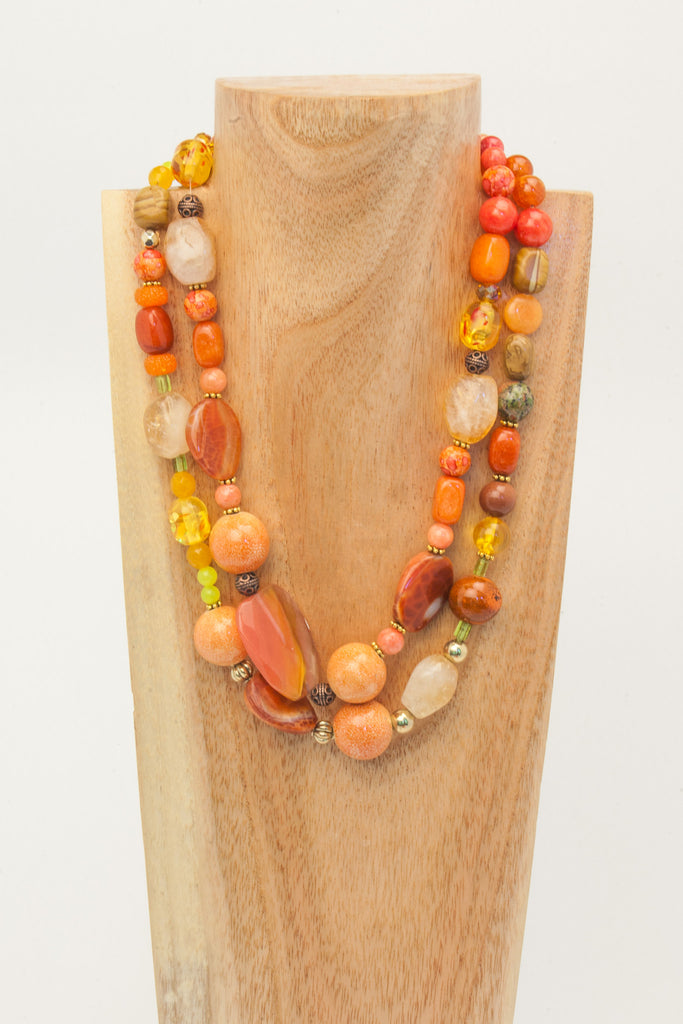Nellie worn with Nicole to make a statement necklace.