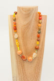 Orange Agate with Jasper, Citrine, Ceramic and Peridot