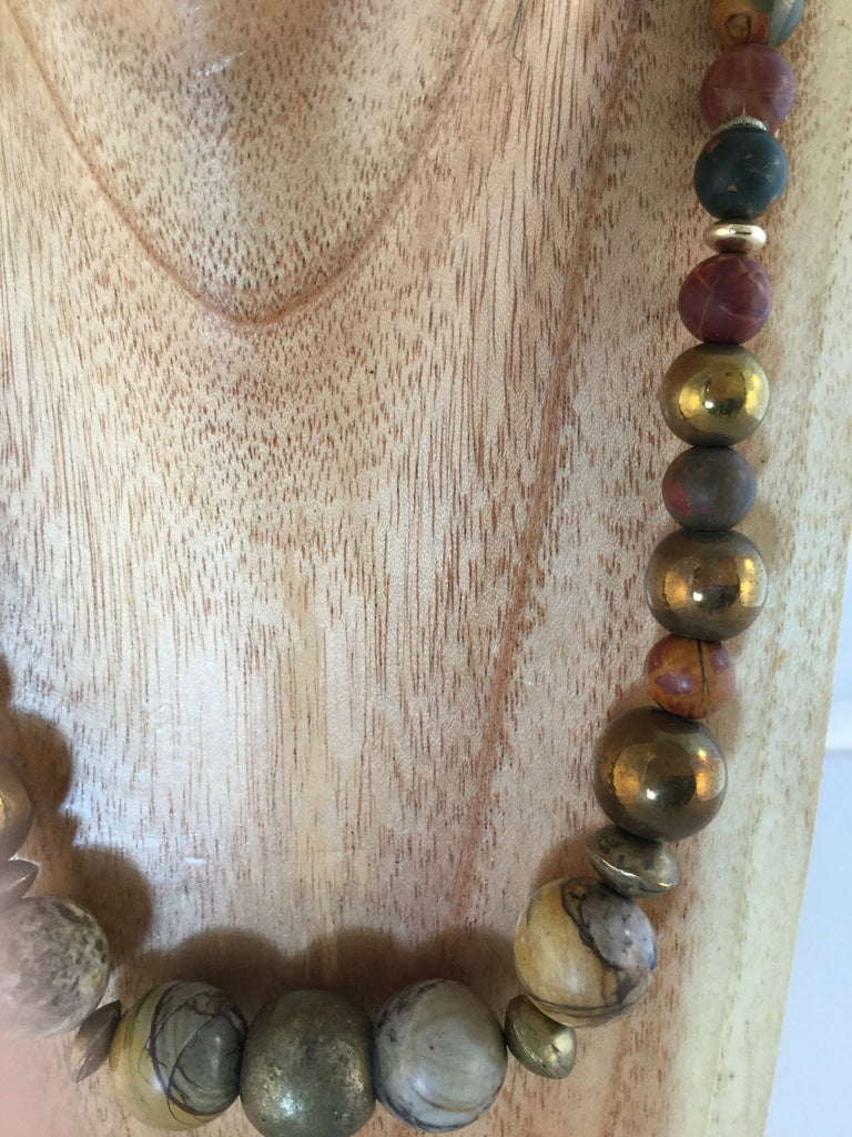 QUINN: Jasper and African Metal Choker