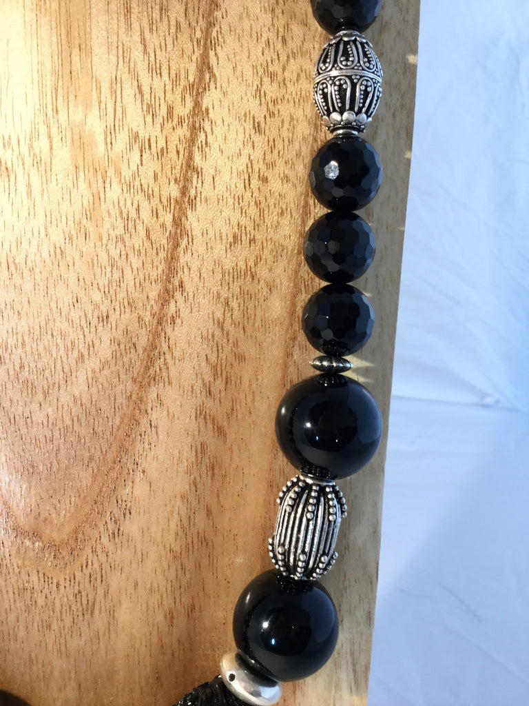 OBSIDIAN: Black Obsidian Necklace