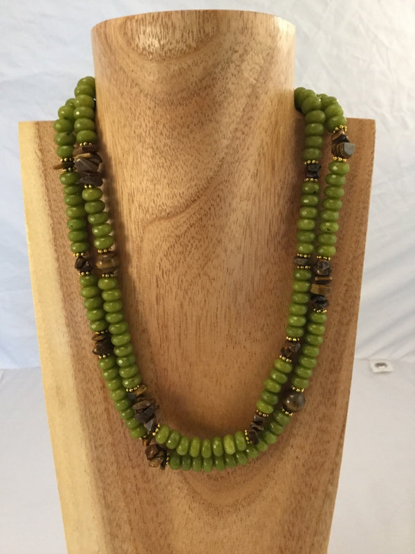 PERI: Faceted Peridot Neckalace
