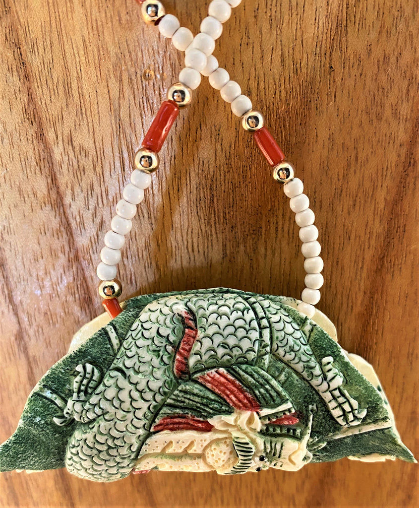 PAINTED IVORY: Coral/Ivory Necklace