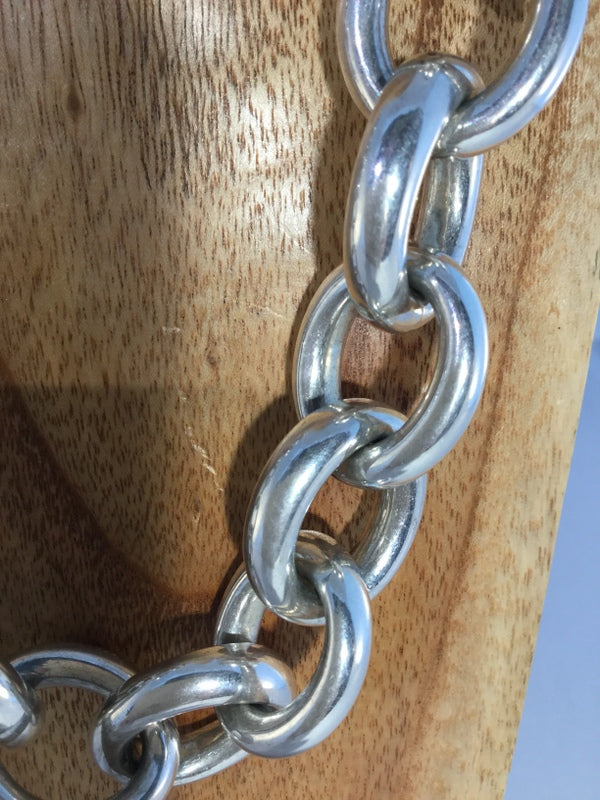 PASSION: Sterling XL Linked Chain Necklac.