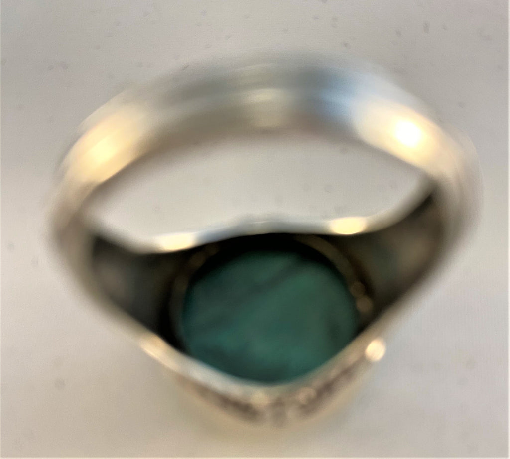 RS219: Malachite Sterling Ring