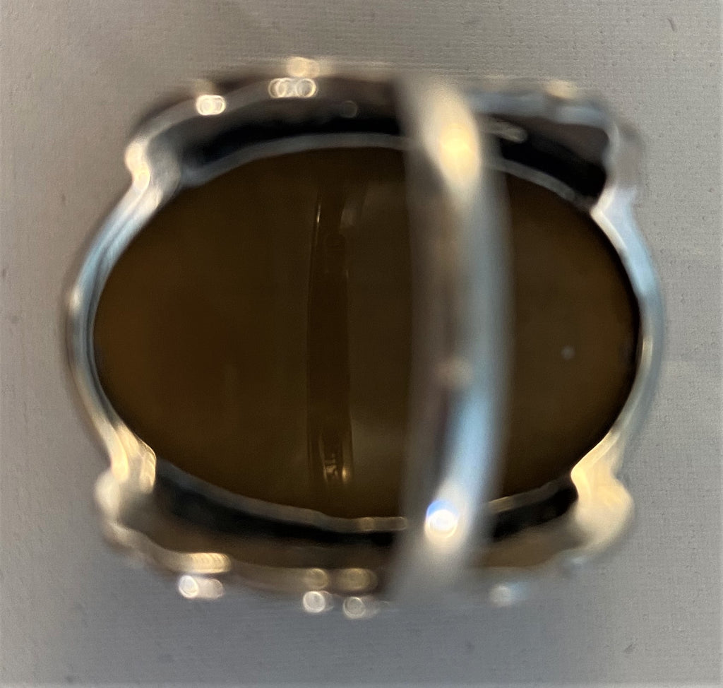 RS57: Sterling Tiger's Eye Ring