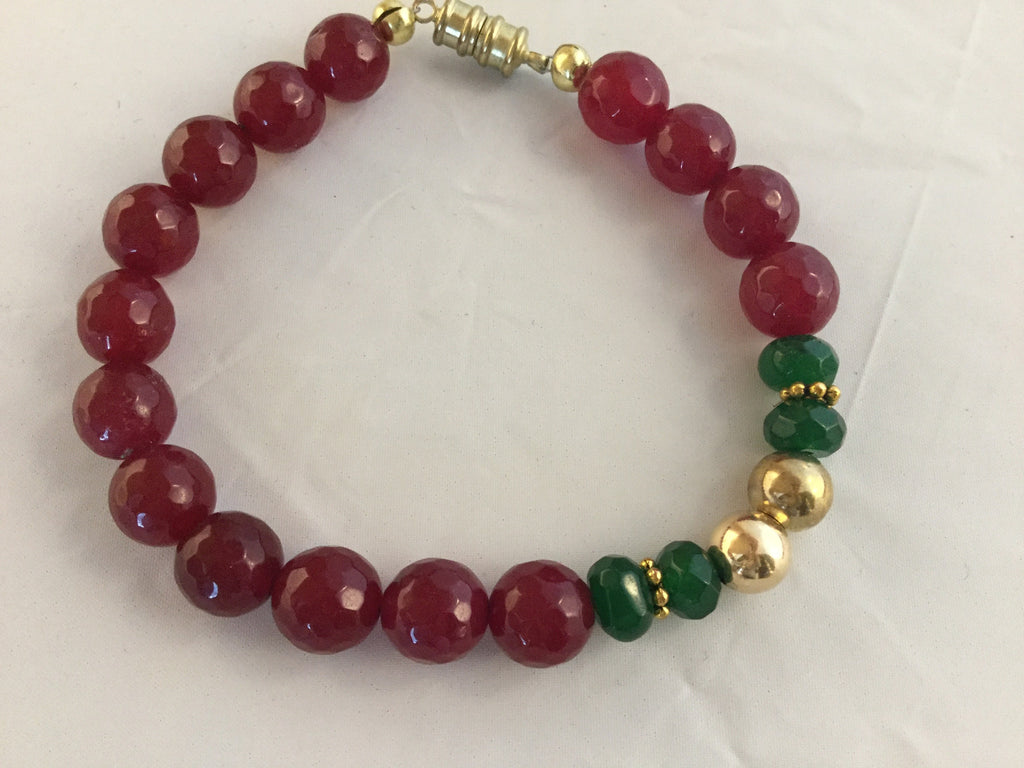 "BR8S: RUBY 8 1/4"" Bracelet with magnetic clasp. $95"