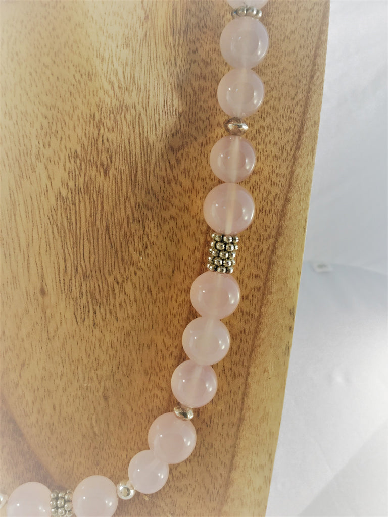 ROSY: Rose Quartz Choker