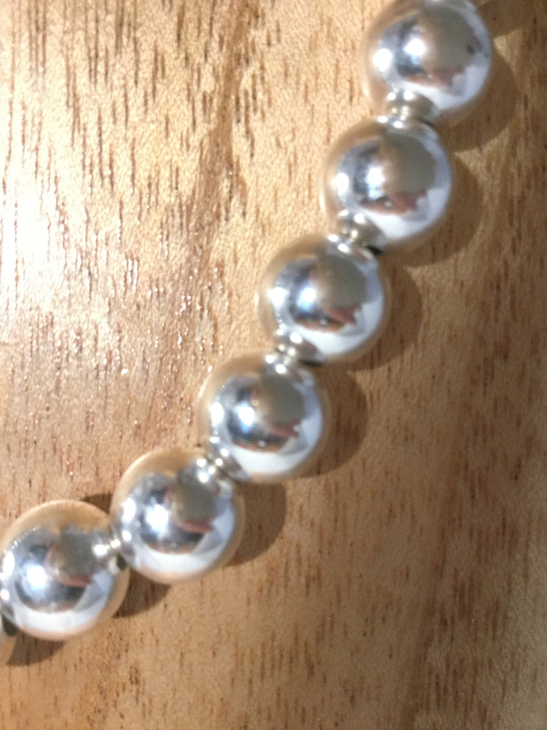 STERLING II: 15mm Sterling Ball Necklace