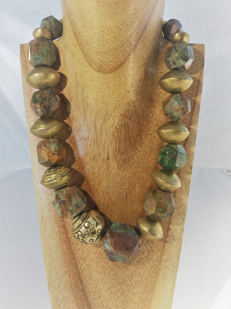 TRUSCAN: Chrysocolla with African Bronze