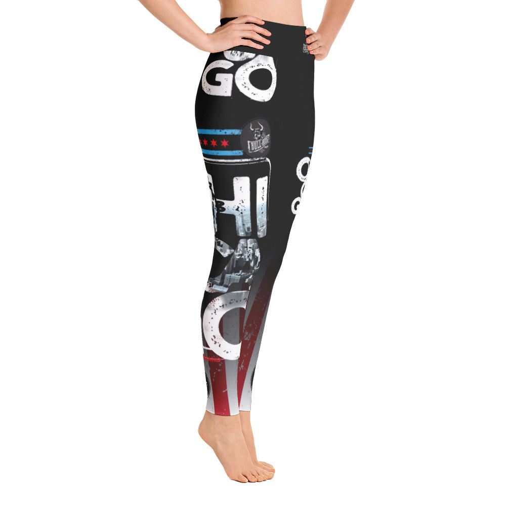 *Bull Horn Brand Chicago Life 01 Yoga Leggings