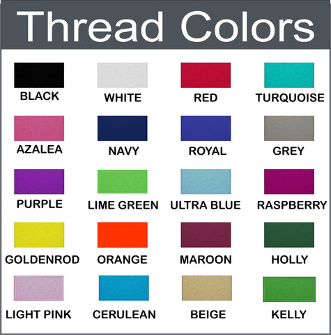 Embroidery thread colors for nurse jackets