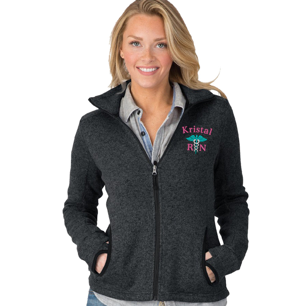 5493 |  Charles River Women's Heathered Fleece Nurse Jacket