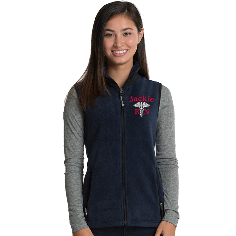 5603 | Charles River Women's Ridgeline Fleece Personalized Vest