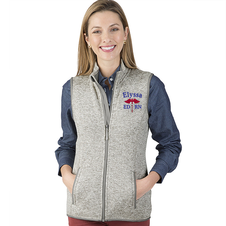 5722 | Women's Pacific Heathered Nurse Vest