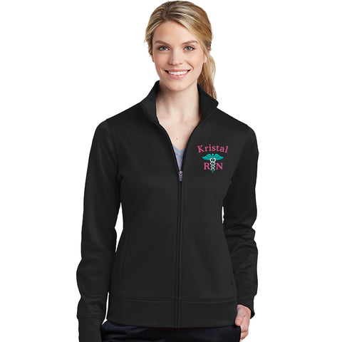 LST241 | Customized Ladies Sport-Wick® Fleece Full-Zip Jacket