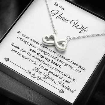 You Stop My heart ~ Infinity Necklace to My Wife