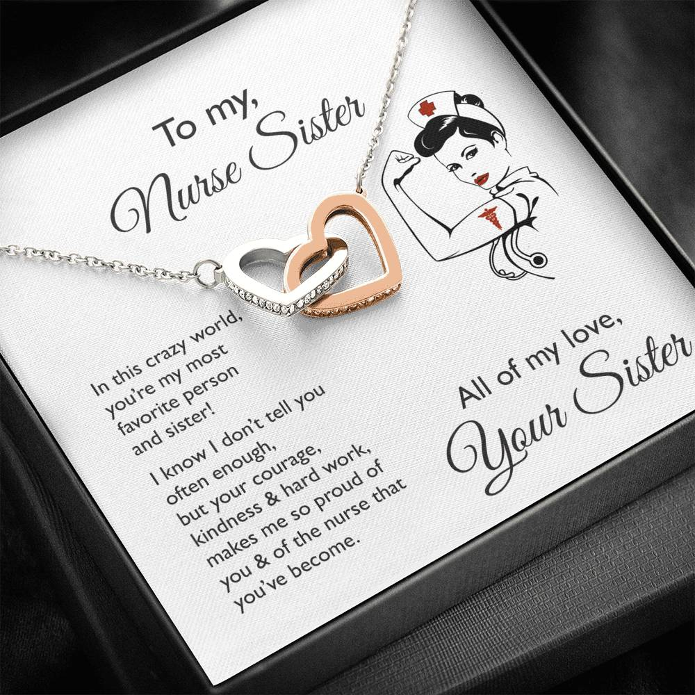 So Proud of You Sister ~ Heart Necklace