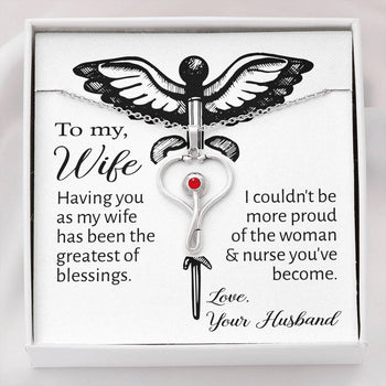 Greatest Blessings Stethoscope Necklace | To my Wife