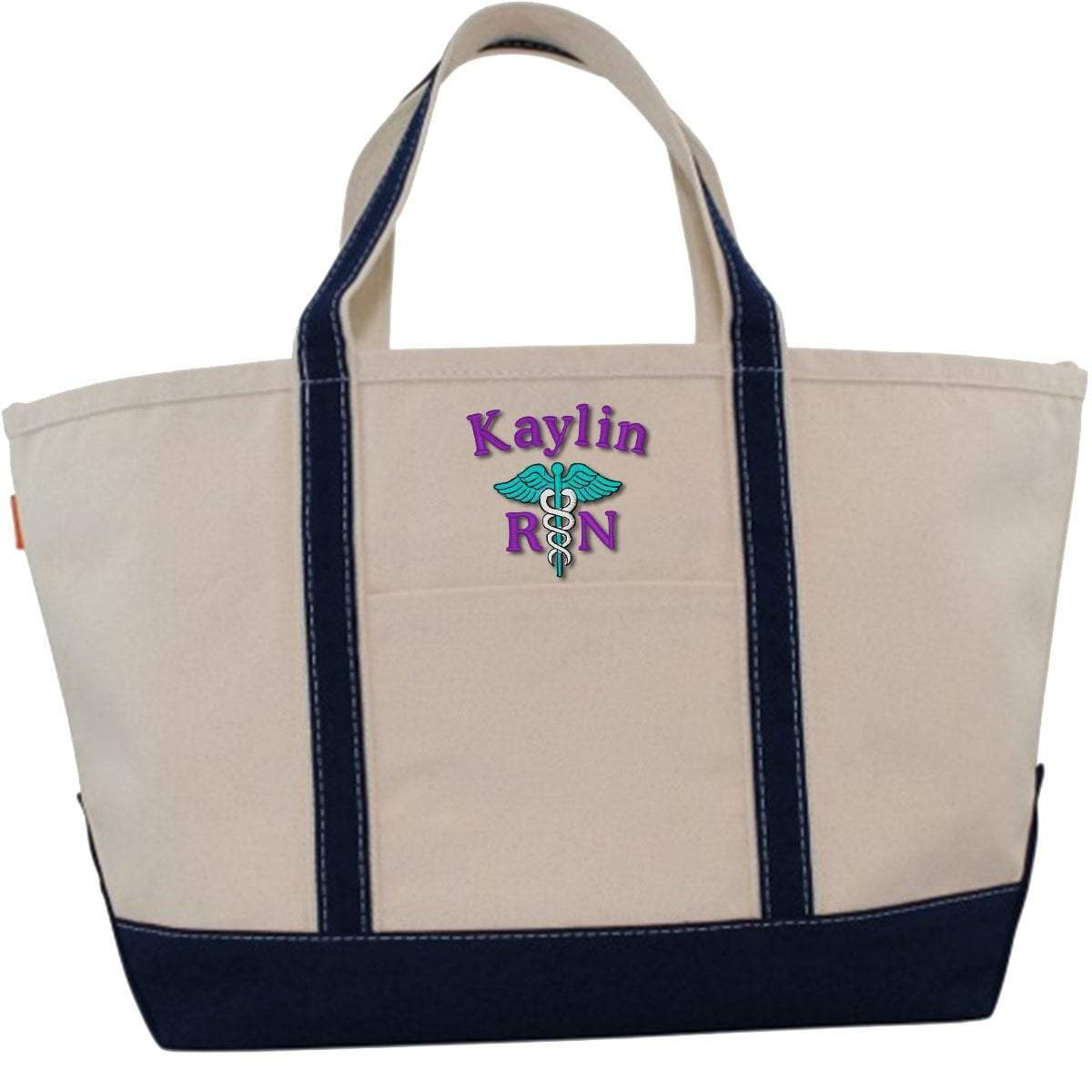 CB Station Bags Large Tote / Navy 5020 | Customized Boat Tote from CB Station