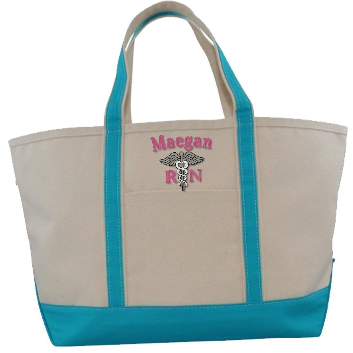 CB Station Bags Large Tote / Turquoise 5020 | Customized Boat Tote from CB Station