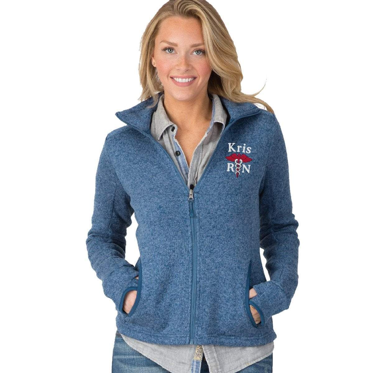 Charles River Apparel jackets 5493 |  Charles River Women's Heathered Fleece Jacket