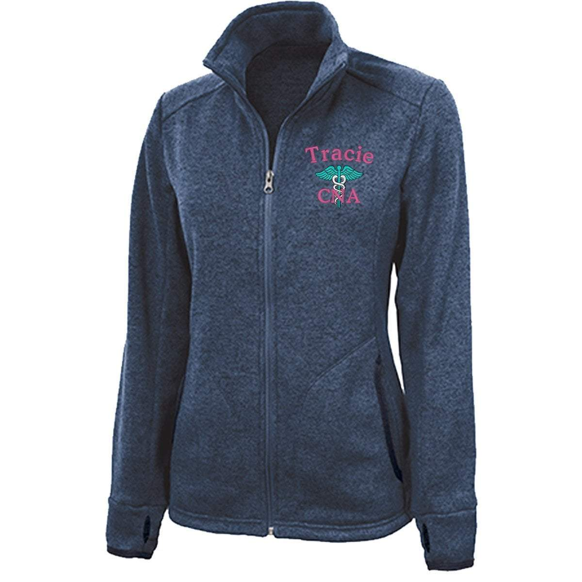 Charles River Apparel jackets Blue Heather / XS 5493 |  Charles River Women's Heathered Fleece Jacket